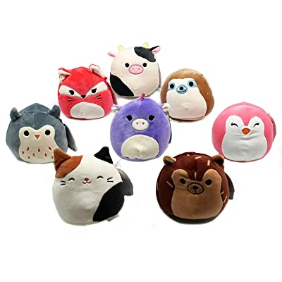 "Squishmallow Original Kellytoy 4 Pack 5"" (Randomly Selected) Super Soft Plush Toy Stuffed Animal Pet Pillow Gift Holiday Christmas: Toys & Games"