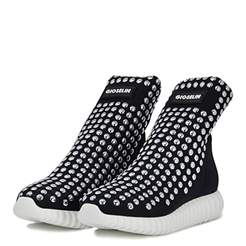 cheap for discount ab1d7 8ef4b Gioselin Scarpa Donna Sneakers Borchie Light Studs