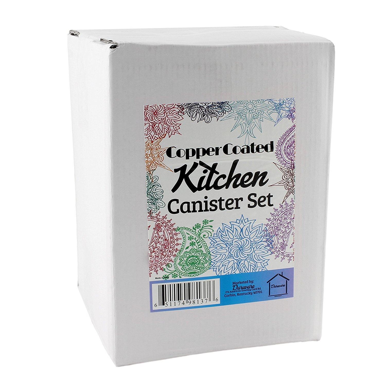 copper canister set kitchen amazon com old dutch 4 piece decor