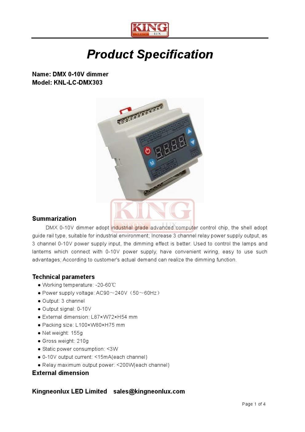 Dmx 0 10v Dimmer For Dmx512 Controller Led Strip Lighting Ac Wiring Dimmers 90 240v Musical Instruments Stage Studio