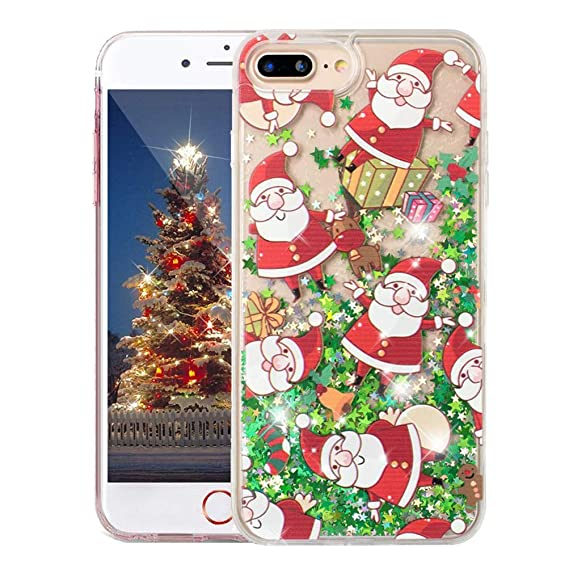 outlet store 4171b 51758 COTDINFORCA iPhone 6 Plus Christmas Case, Merry Christmas Tree Pattern  Glitter Liquid Bling Sparkle Case Pretty Cute for Girls Children Gifts for  ...