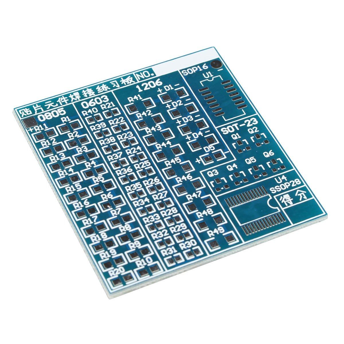 Tarjeta Haljia para prácticas con componentes SMT y SMD, prácticas de soldadura, placa PCB, juego de bricolaje, para Arduino: Amazon.es: Electrónica