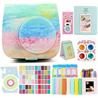 Funnideer 15 in 1 Accessories Bundles for Fujifilm Instax Mini 9 8+8 Instant Camera Case/Color Filters/Selfie Lens/Book Stand Album/Wall Hanging Stand Frame/Camera Film Corner Sticker (Rainbow Mist)
