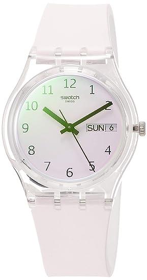 Swatch Reloj Analógico para Unisex Adultos de Cuarzo con Correa en Silicona GE714: Amazon.es: Relojes