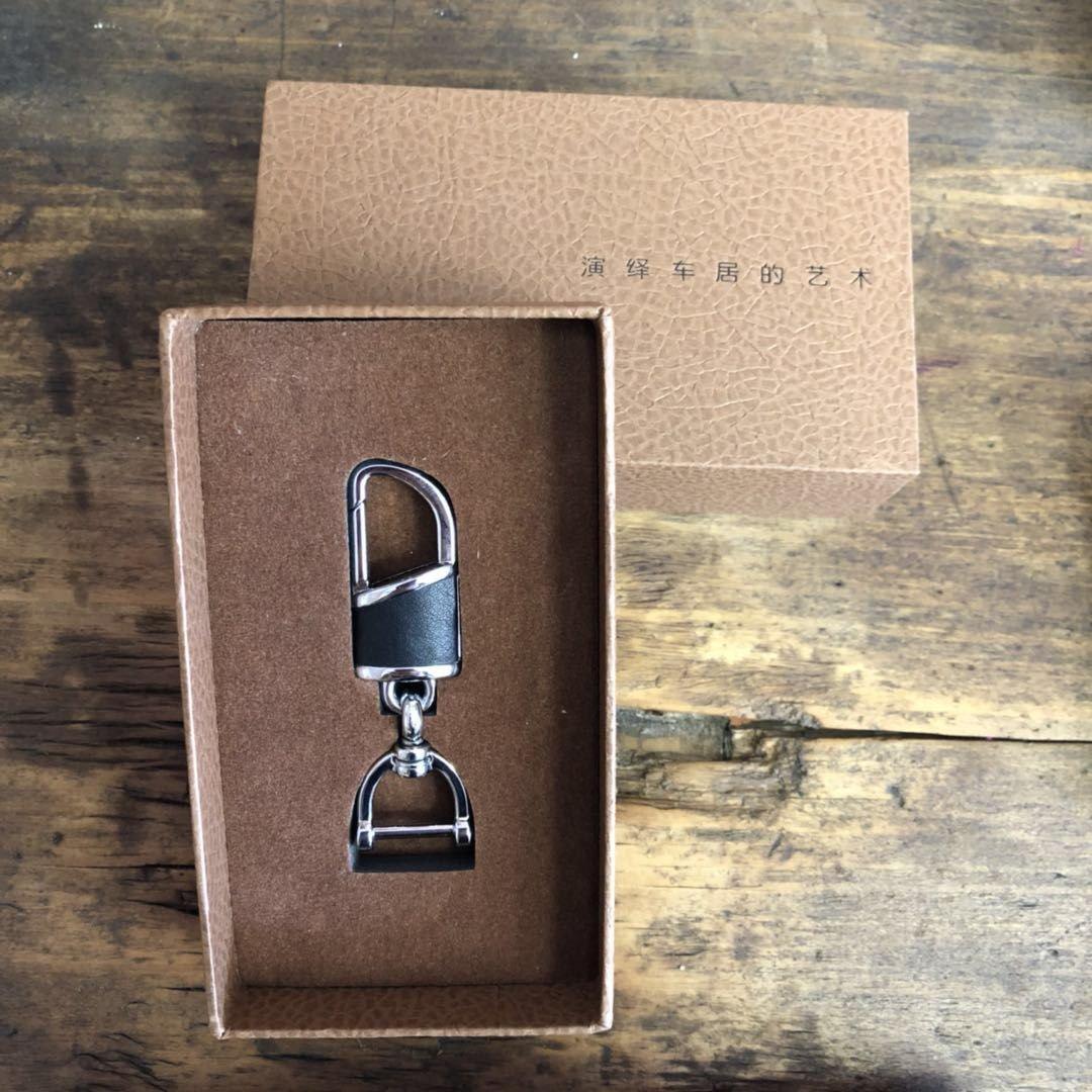 G.velox leather Key chain Keyrings car keychain for Men and Women Black