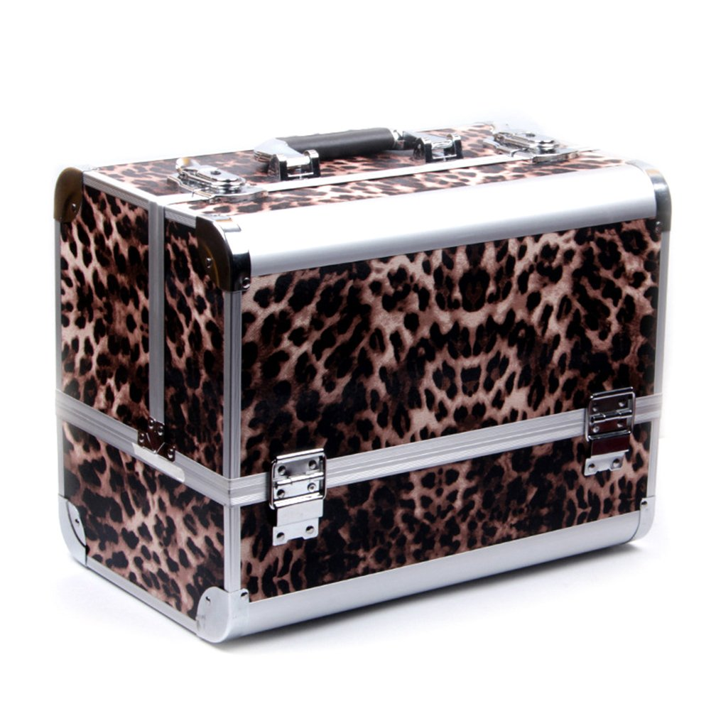 Gracefulvara Pro Makeup Cosmetic Train Case Come With Cosmetics