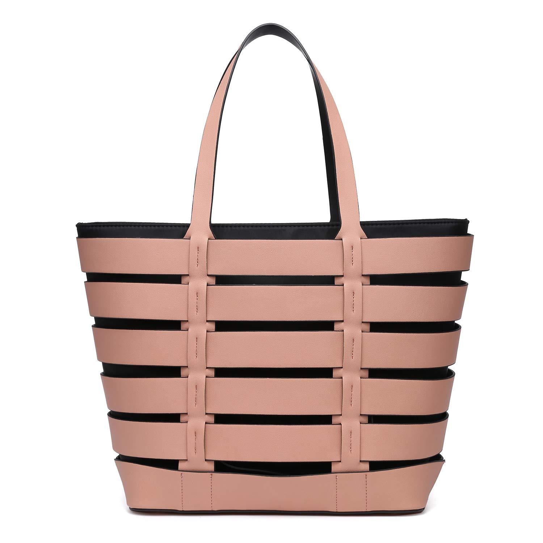 Dasein レディース B07QWRZXM8 2 Bag Set-pink/Khaki
