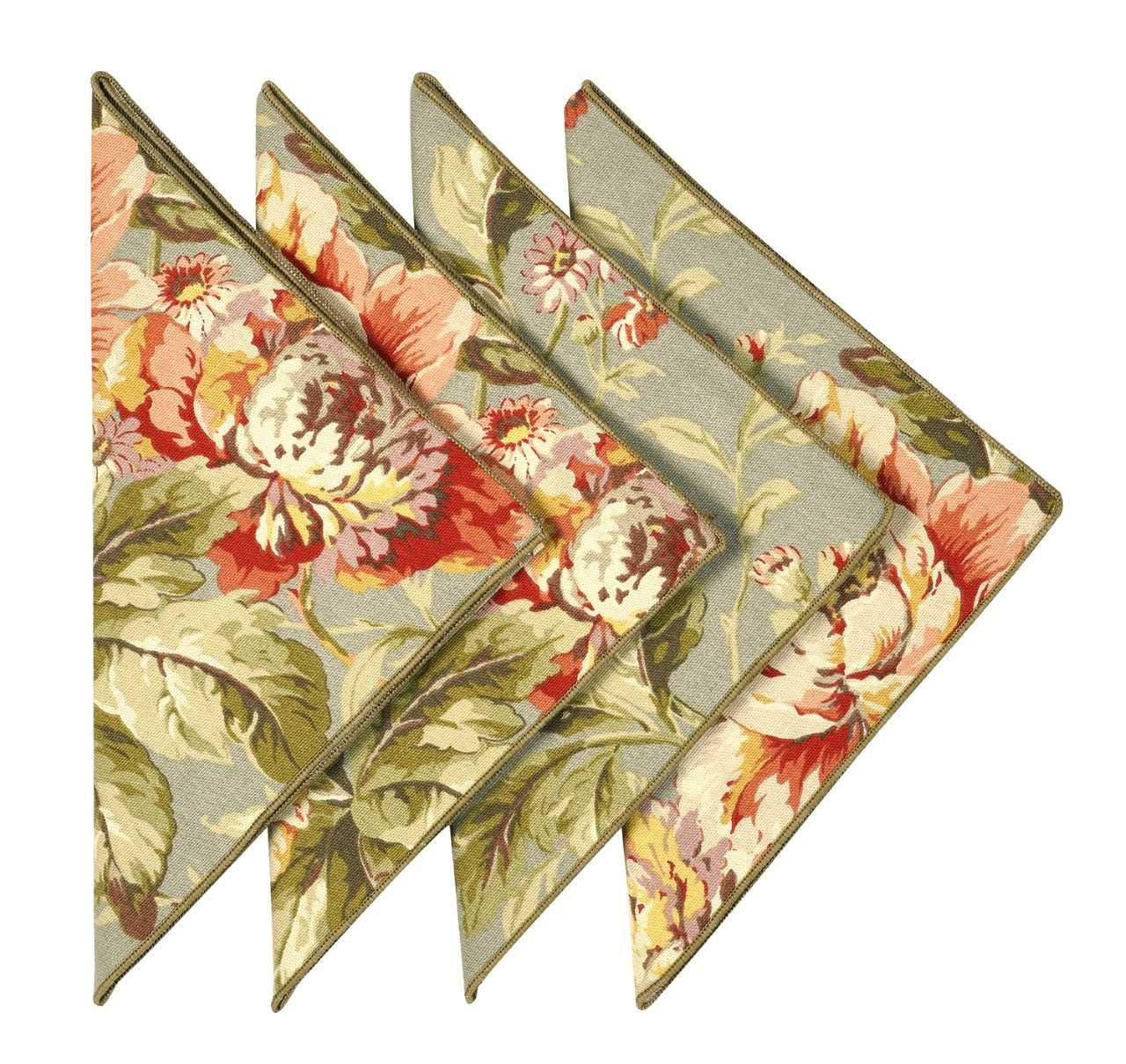 Cloth Napkins 18 Inches Linen Napkins Table Linens Cotton Fabric Set of 12 Floral Decorative Things