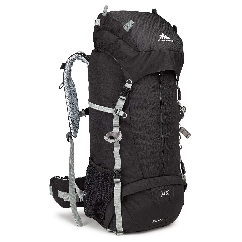 ハイシエラサミット45ハイキングデイパック、ブラック/シルバー、チェック - ラージ   B00HA3DG6K
