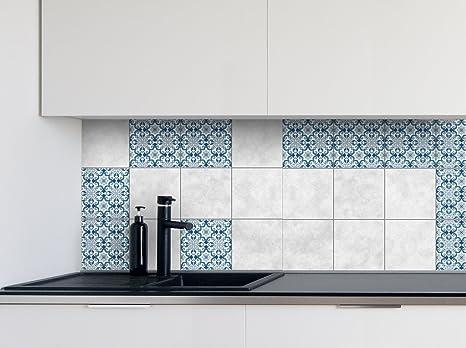 Adesivi per piastrelle cucina modelli blu dimensioni della pellicola