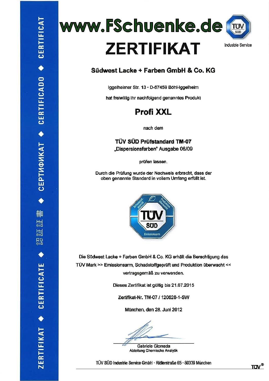 SÜDWEST Profi XXL Innenfarben W53 weiss 9110 15 l Verbrauch: 140 ml ...