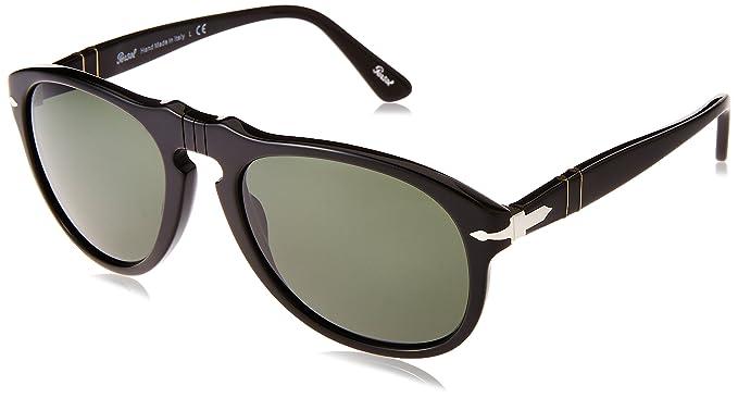 Persol 0Po0649 95/31 54 Gafas de sol, Negro (Black/Grey Green), Unisex-Adulto