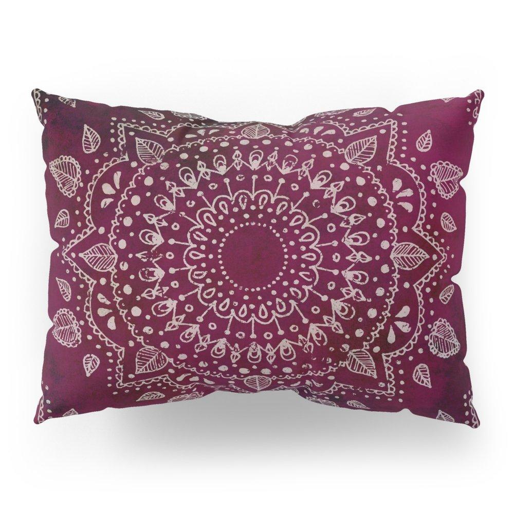 Society6 Wine Mandala Pillow Sham Standard (20'' x 26'') Set of 2 by Society6