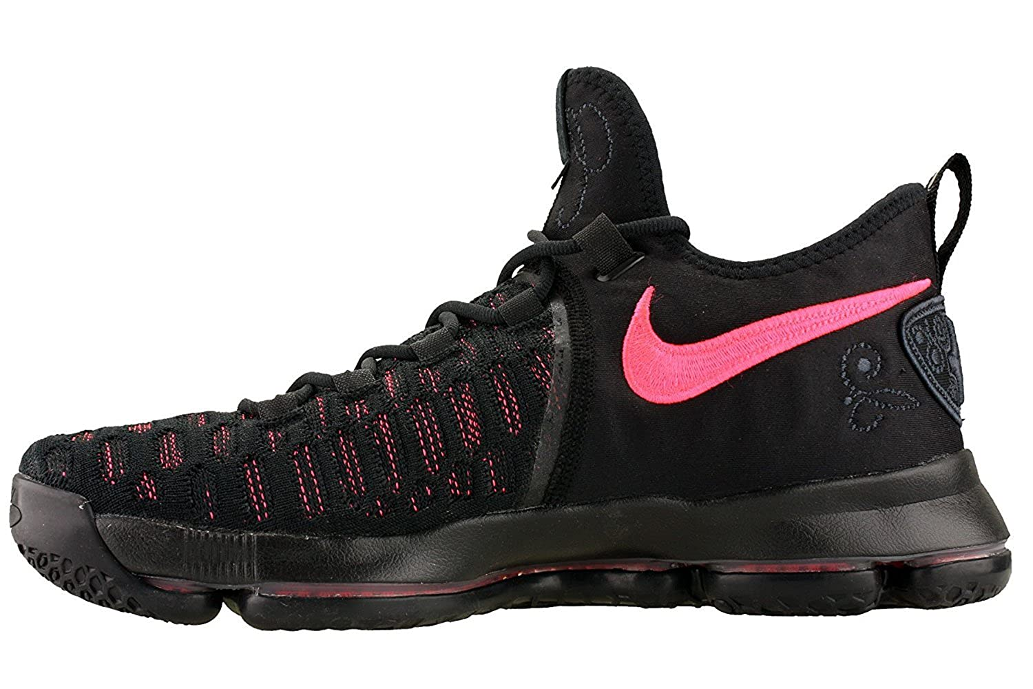 419f833a1b1e0 Nike Zoom KD 9 Men's Basketball Shoes (11.5, Black/Hot Punch)