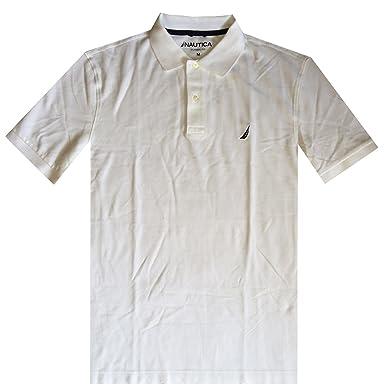 NAUTICA Men Classic Fit Polo Pique T-Shirt (L, White): Amazon.es ...