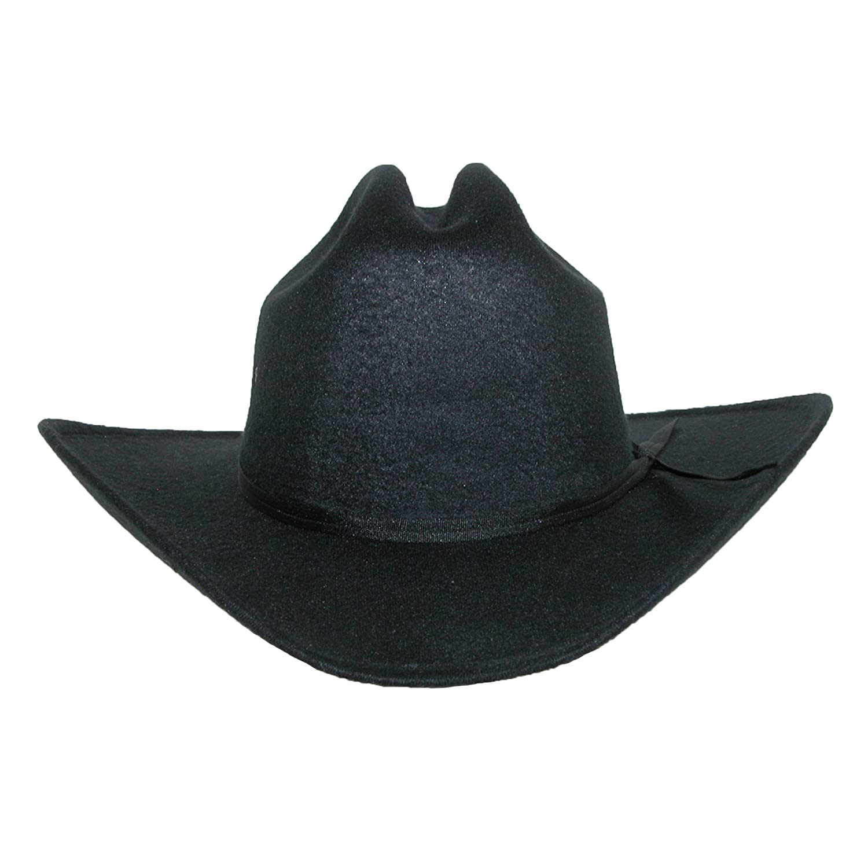 CTM Mens Wool Felt Wide Brim Cattleman Cowboy Western Hat