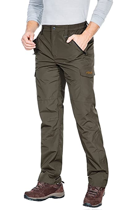 aa97176150 Nonwe Men s Snow Skiing Pants Softshell Water Resistant With Pockets Green  36W x 32L