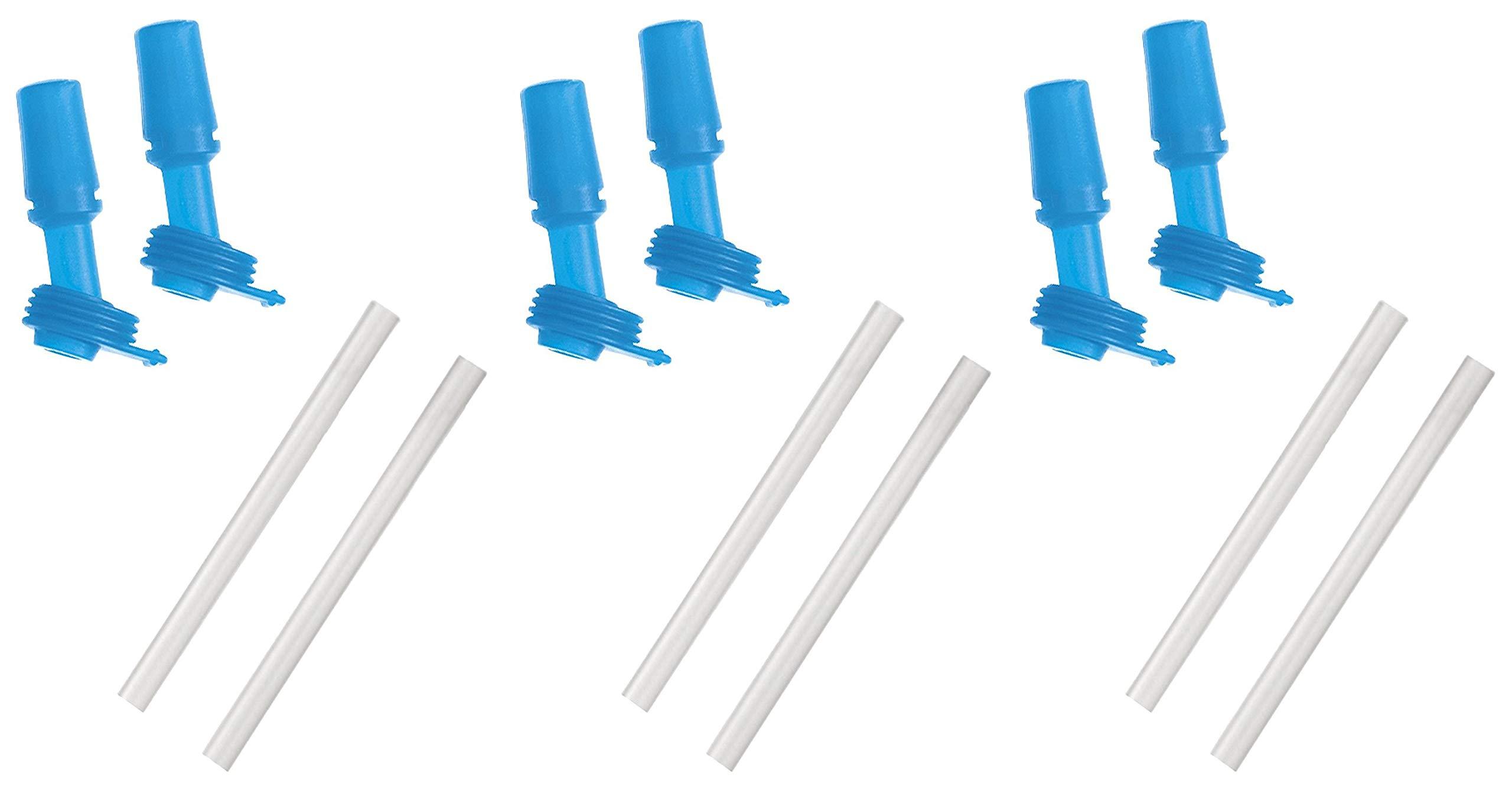 CamelBak Eddy Kids Bottle Accessory 2 Bite Valves/2 Straws, One Size, Ice Blue (3 Pack)