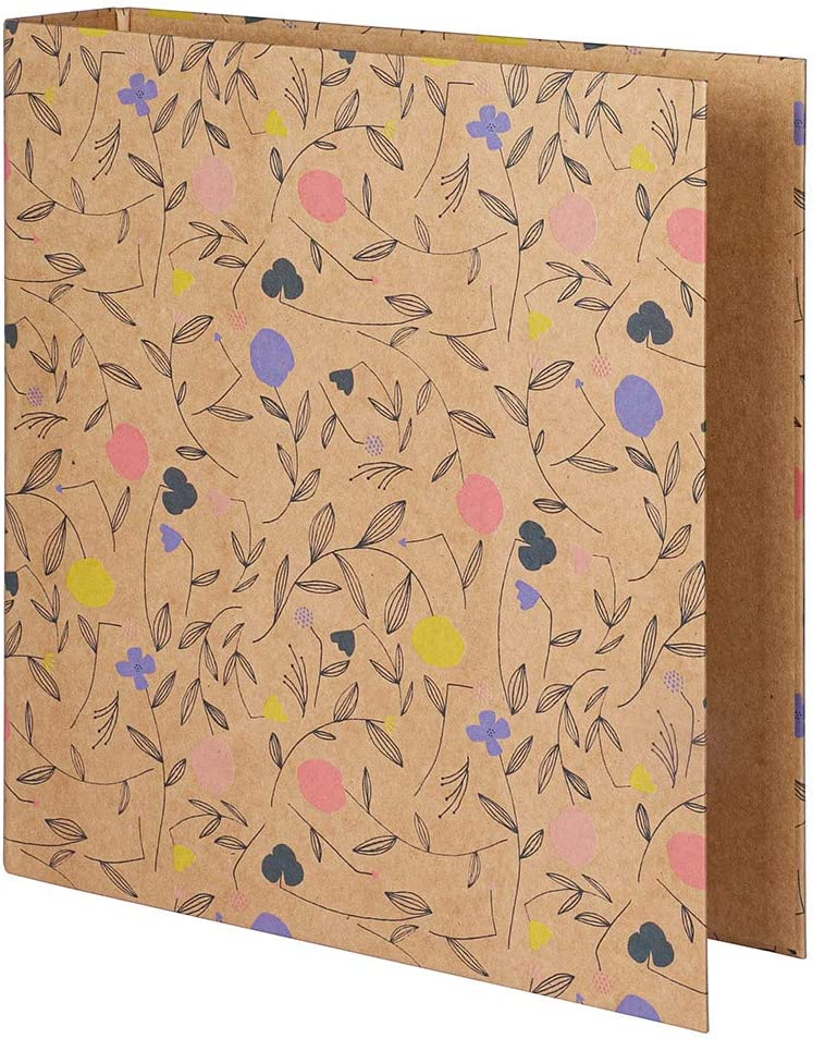 Paperchase Floral Kraft Lever Arch File