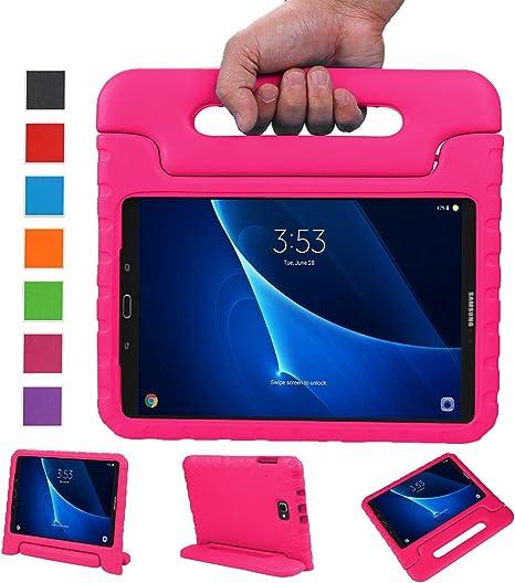 BelleStyle Funda para Samsung Galaxy Tab A 10.1 2016, A Prueba de Choques Ligero Estuche Protector Manija Caso Forró con Soporte para Niños para Galaxy Tab A 10.1 Pulgadas SM-T580/T585 (Rosa): Amazon.es: