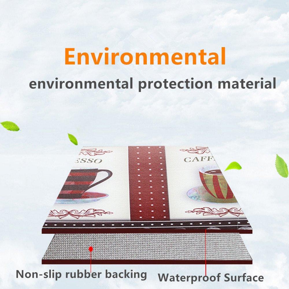 USTIDE Coffee Mix Non-Slip Waterproof Area Rugs,Oil Proof Creative Rug Runner,19.7 x31.5