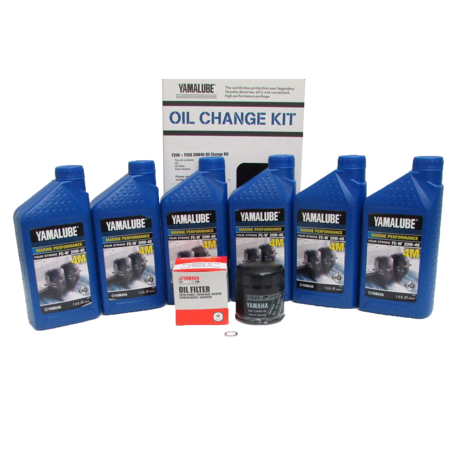 Yamalube-F200 ~ F250 Outboard Oil Change Kit (20W40 Fc Qty6)
