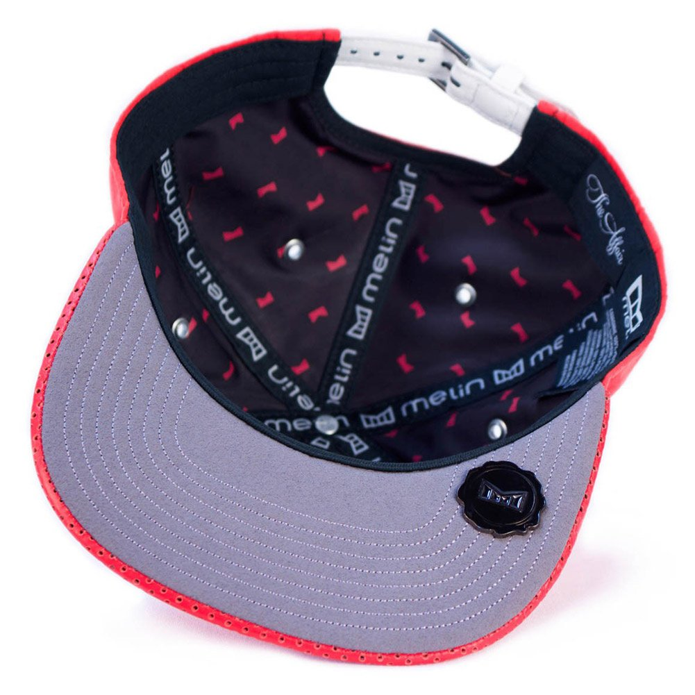 finest selection 1c23e 95158 Melin Brand The Affair Strapback Hat (Red) Men s Suede Leather Luxury Cap   Amazon.co.uk  Sports   Outdoors
