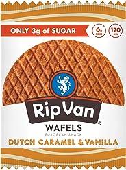 Rip Van Wafels Snack Wafels, Dutch Caramel & Vanilla, Pack of 12, 13.92 Ounce (PACKAGING MAY VARY)