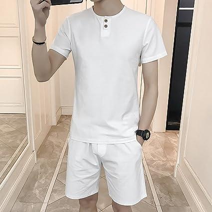 WLG Pantalones Cortos de Los Hombres de Sección Delgada de ...