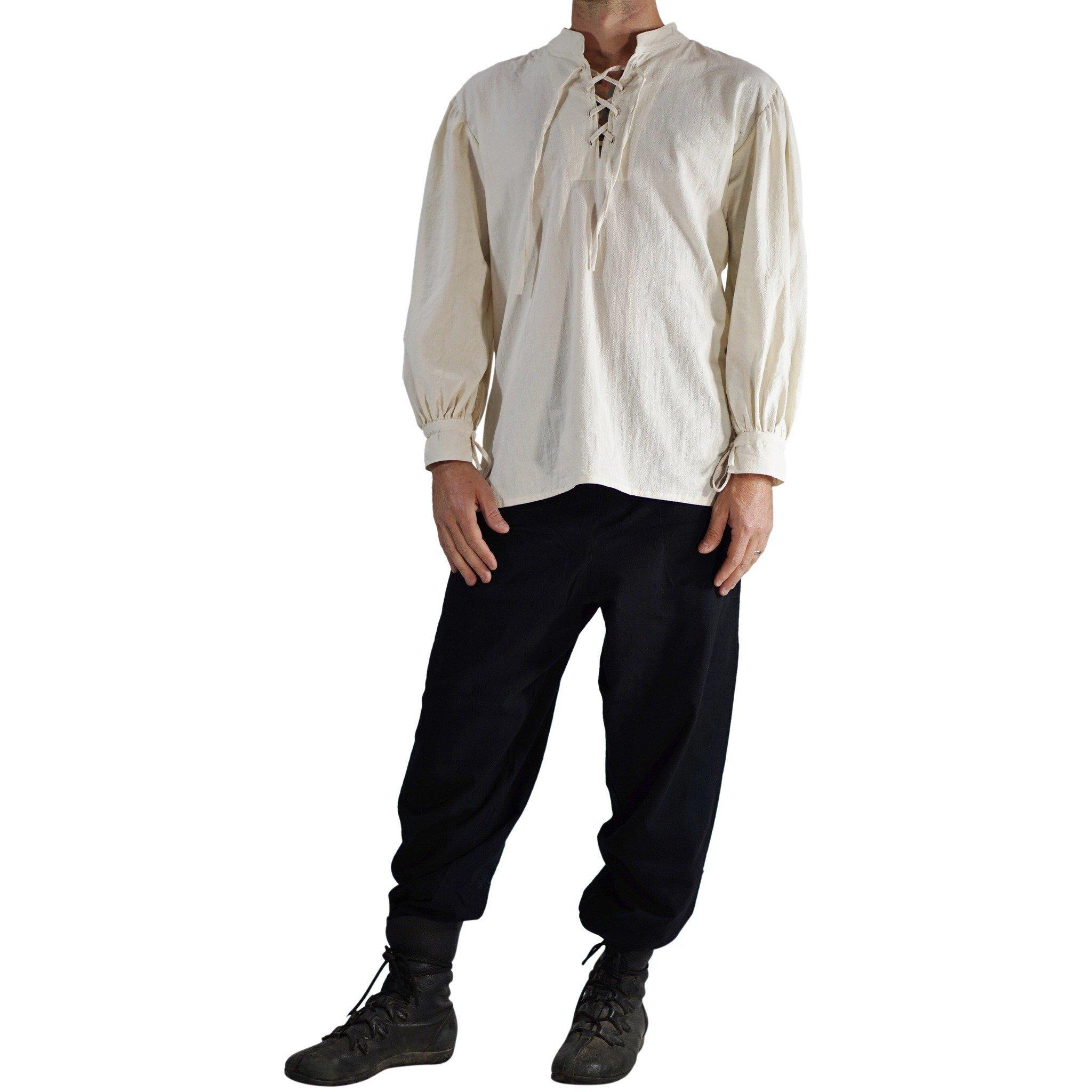 'Merchant' High Collar, Renaissance Festival Costume Shirt, Pirate, Steampunk - Cream/Off White by Zootzu (Image #4)