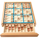 Wooden Sudoku Game,NACOLA Puzzle Game with Wooden Number and Thinking Tiles/Board Games