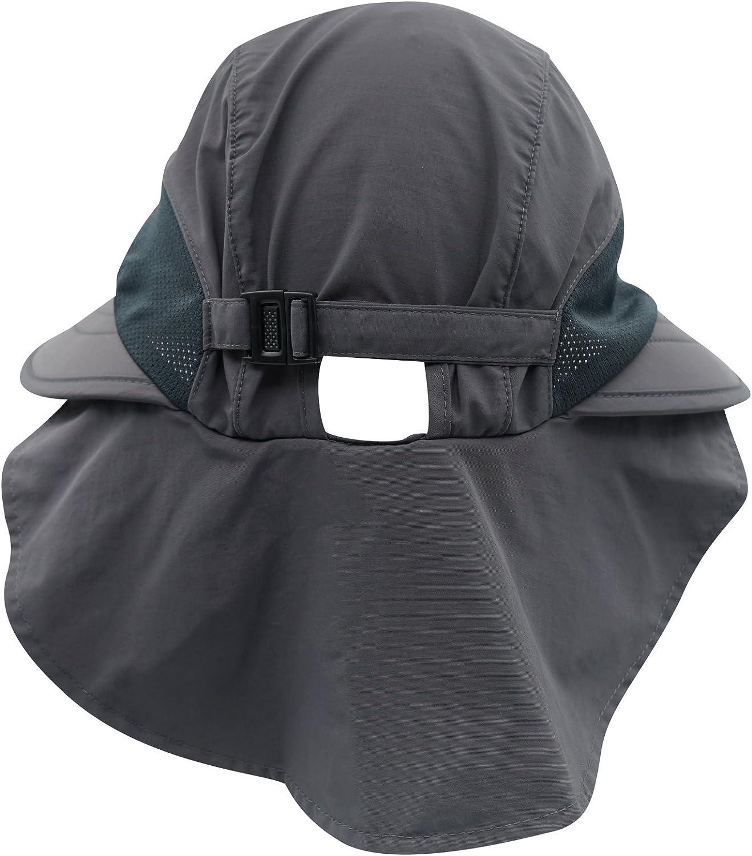 Decentron Unisex 4/Largo Brim Flap sombrero sombreros de sol Safari Outback gorro con cuello solapa