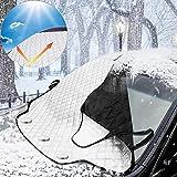カーフロントカバー フロント 雪対策 凍結防止カバー 車 フロントガラス カバー 雪除け 日よけ フロントカバー 4重厚手撥水構造 UV防止 凍結防止 積雪対策 日焼け防止 収納袋付き 折りたたみ カー用品 183 * 116cm