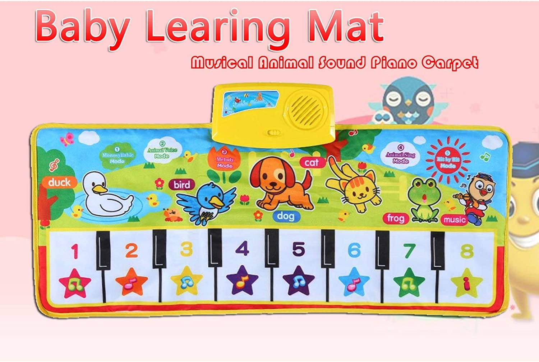 Youyijia Kids Piano Mat Music Carpet 73 X 34cm Kids Piano Keyboard Music Dancing Play Mat Toy for Kids Boys Girls Toddler