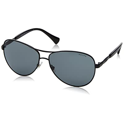 Ralph 0Ra4117, Gafas de Sol para Mujer, Multicolor (Satin Black), 59: Ropa y accesorios