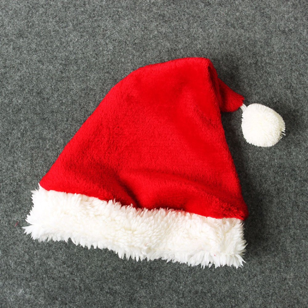 YanHoo Conjunto navideño Infantil Vestido de Manga Larga Estilo Papá Noel Tops + Pantalones + Calcetines + Gorro Traje de Cuatro Piezas Ropa 4PCS Infant ...
