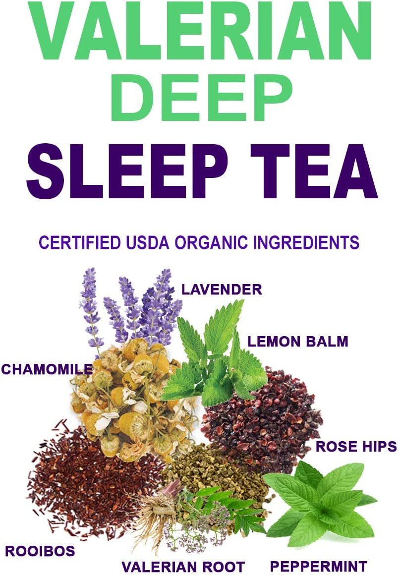 Valerian Tea for Sleep. This Sleep Tea Helps Fall & Stay Asleep - 40 Servings by Secrets Of Tea
