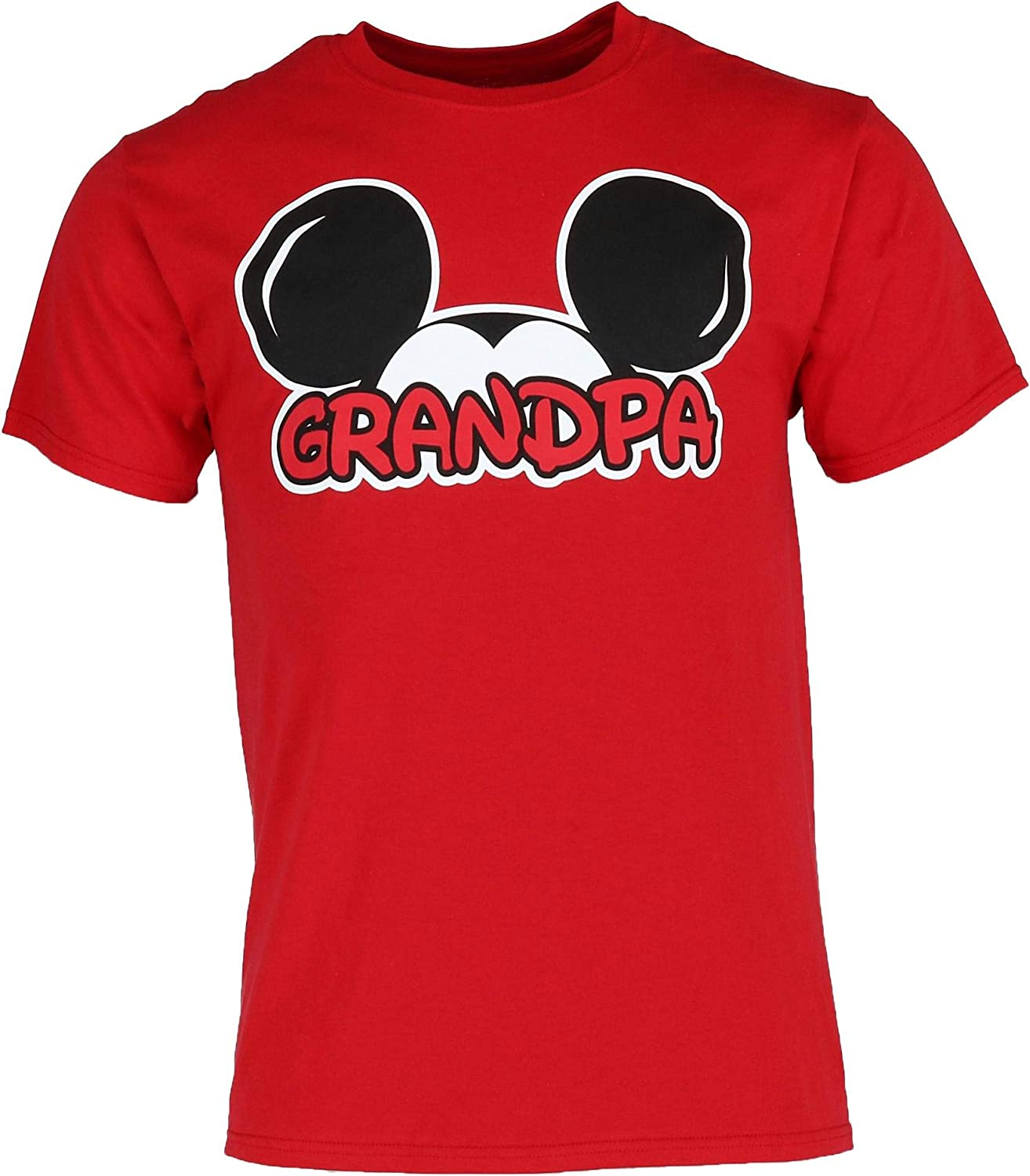 Disney Adult Plus Size Mens T-Shirt Grandpa Family Tee Red (3XL)