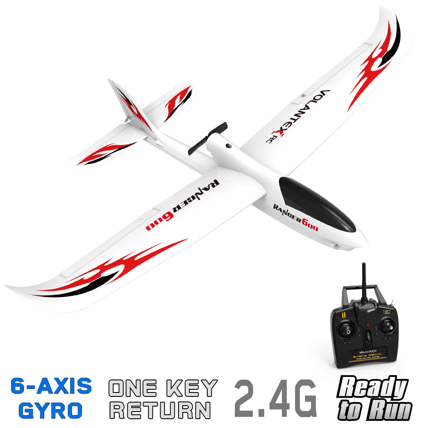 VOLANTEXRC RC Glider Plane Remote Control Airplane Ranger600 Ready to Fly, 2.4GHz Radio Control Aircraft
