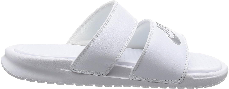 - Benassi Duo Ultra, Zapatos de playa y piscina Mujer, Blanco (White/Metallic Silver 100), 36.5 EU