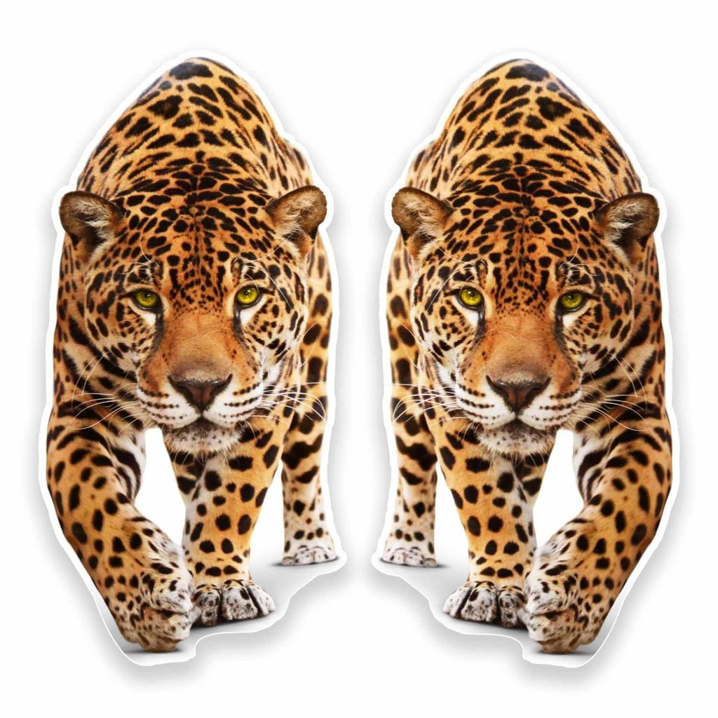 2 x 30cm- 300mm Jaguar Panther Vinyl SELF ADHESIVE STICKER Decal Laptop Car Travel Luggage Label Tag #9645