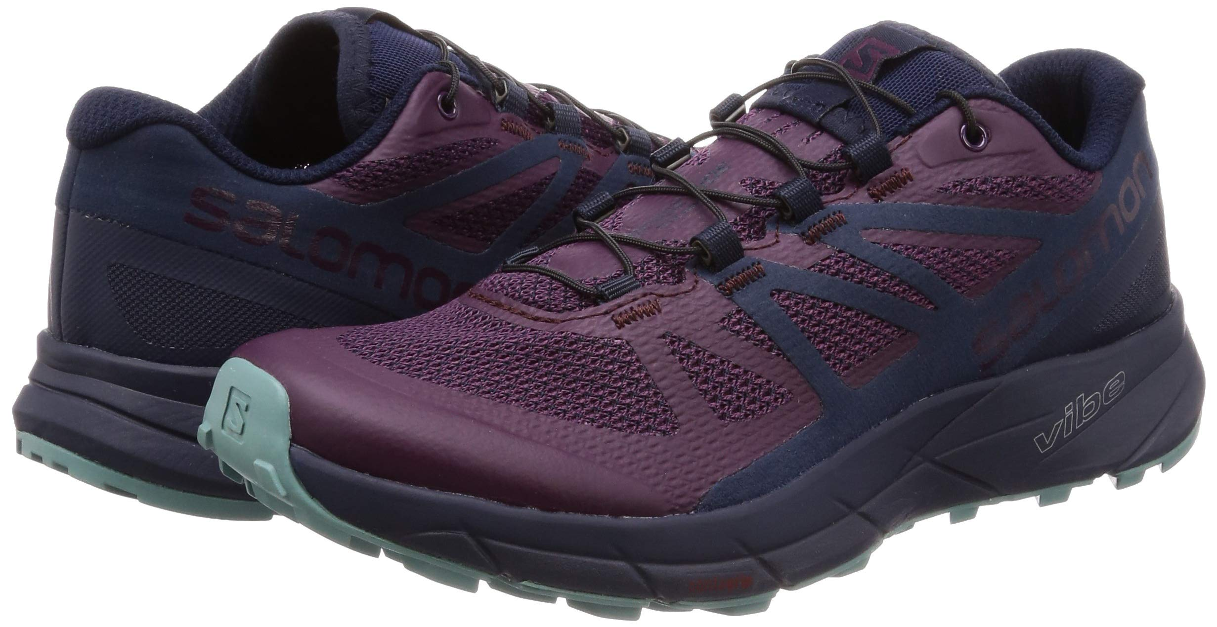 Salomon Sense Ride Running Shoe - Women's Potent Purple/Graphite/Navy Blazer 6 by Salomon (Image #5)