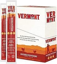 Vermont Smoke & Cure Jerky Sticks - Antibiotic Free Turkey - Gluten Free - Great Keto Snack, High in Protein & Low Sugar - Un