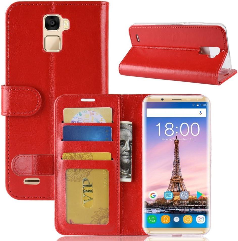Funda® Capirotazo Billetera Funda para Oukitel K5000 (Rojo): Amazon.es: Electrónica