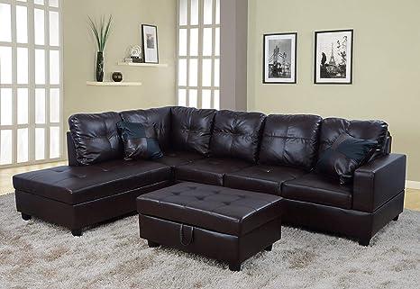 Amazon.com: Lifestyle - Juego de sofá de izquierda y derecha ...