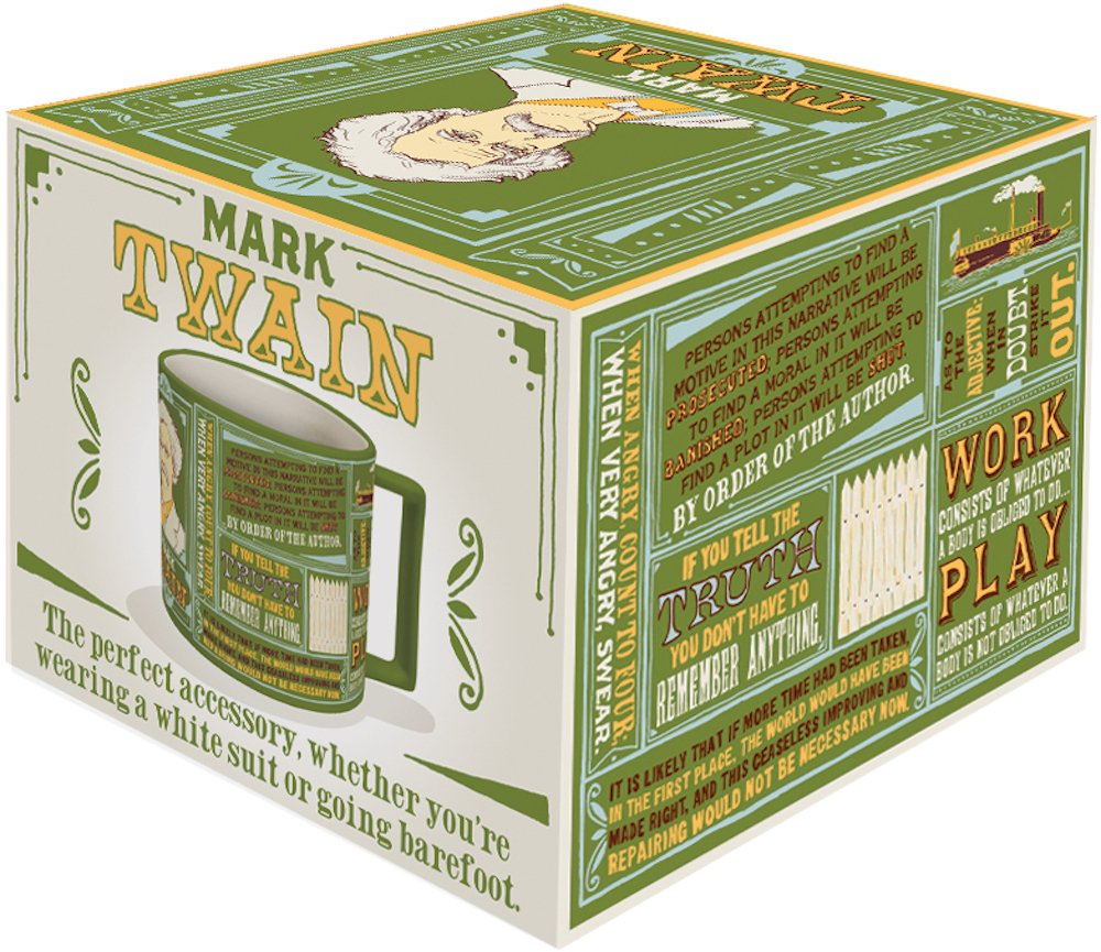 Mark Twain Coffee Mug - Twain's Most Famous Quotes and Depictions - Comes in a Fun Gift Box by The Unemployed Philosophers Guild (Image #3)