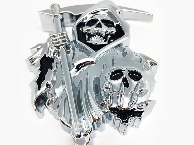 Emblema Adhesiva de Metal Cromado para Reaper de Calavera