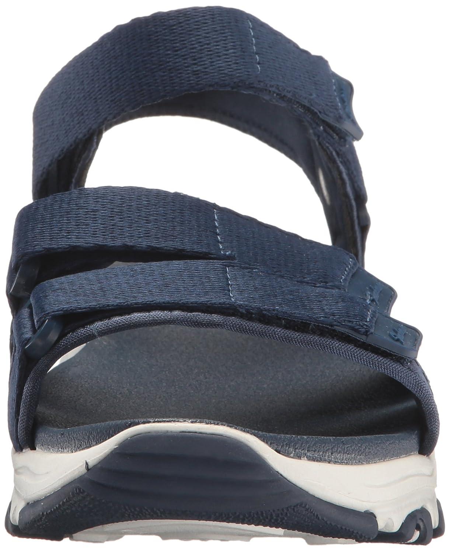 Skechers Cali Women's D'Lites-Fresh Catch Wedge Sandal B01MRUZ54V 8 B(M) US|Navy