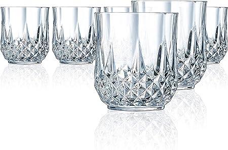 Cristal d'Arques-Longchamp vaso de whisky,320ml, sin la marca de llenado, 6 Vasos