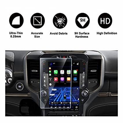 2019 Dodge Ram 1500 Uconnect Touchscreen Car Display Navigation Screen  Protector, HD Clear Tempered Glass Protective Film Against Scratch High  Clarity